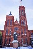 防御dc smithson史密松宁多雪的雕象 免版税库存图片
