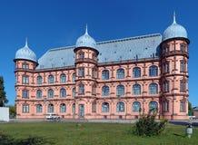 城堡Gottesaue在卡尔斯鲁厄,德国 库存照片