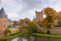 防御Huis伯格, 's-Heerenberg,海尔德兰省,荷兰 库存照片