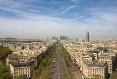 防御la巴黎视图 免版税库存照片