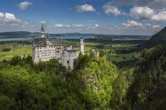防御neuschwanstein 免版税图库摄影