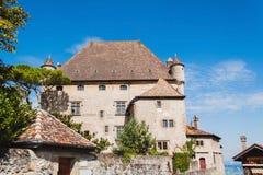 防御yvoire 法国 免版税图库摄影