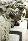 防护中国的狮子 免版税库存图片