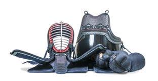 防护器材`日本操刀的Kendo训练的bogu ` 库存图片