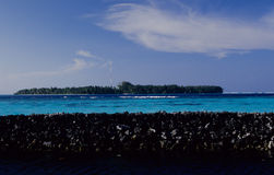 防护墙马尔代夫 库存图片