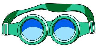 防护眼镜象 库存照片