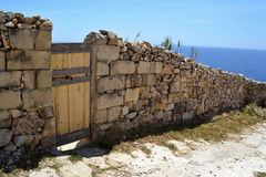 防护边界,马耳他 库存图片