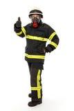 防护齿轮的消防队员 库存图片