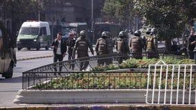 防暴警察,智利 股票视频