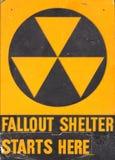 防核尘地下室符号 免版税库存照片