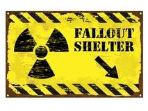 防核尘地下室辐射标志 向量例证