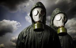 防毒面具二 生存题材 库存图片
