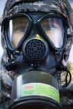 防毒面具战士 免版税图库摄影