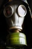 防毒面具的人 免版税图库摄影