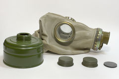 防毒面具,没有水管的过滤器 库存图片