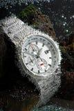 防水测时器的手表 免版税库存照片