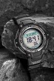 防水电子的手表 免版税库存图片
