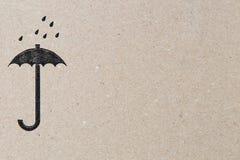 防水象 保护货物免受湿气标志 免版税图库摄影