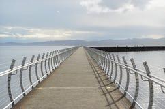 防波堤在维多利亚, BC 库存图片