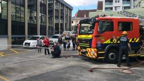 防火安全在奥克兰市消防局,新西兰的教育天 股票视频