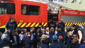防火安全在奥克兰市消防局,新西兰的教育天 影视素材
