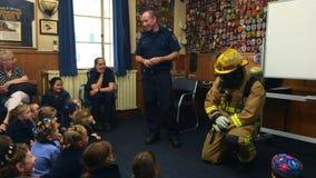 防火安全在奥克兰市消防局,新西兰的教育天 股票录像