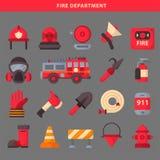 防火安全设备紧急状态用工具加工消防队员安全危险事故保护传染媒介例证 皇族释放例证