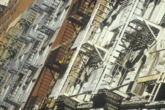 防火梯, NY 免版税库存照片