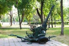 防空双管枪autocannon 库存图片