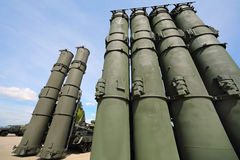 防空在演示程序期间的导弹系统S-300 库存照片