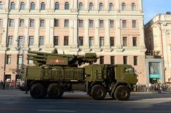 防空导弹和枪复合体甲壳 免版税库存照片