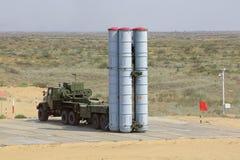 防空导弹复杂S-300 (SA-10埋怨) 免版税库存图片