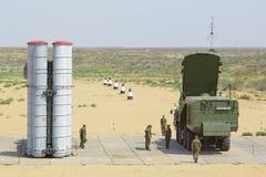 防空导弹复杂S-300 (SA-10埋怨) 库存图片