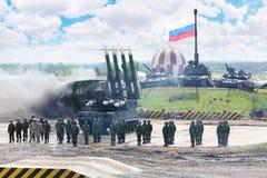 防空导弹系统Buk-M1 库存图片