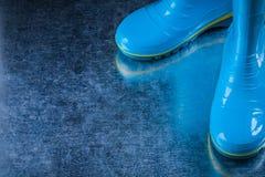 防水庭院胶靴从事园艺的概念 库存照片