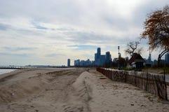 防冻的海滩 库存照片