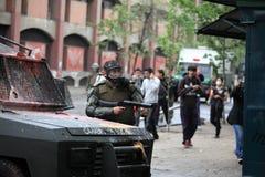 防暴警察在智利 库存照片