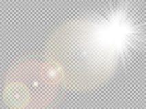 阳光特别透镜火光 10 eps 皇族释放例证