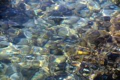 阳光的反射在海水的 免版税库存图片