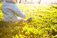 阳光的好处婴孩概念的 免版税库存照片