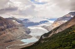 阳光补丁在萨斯喀彻温省冰川的 免版税库存照片