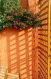阳光通过板条 库存照片