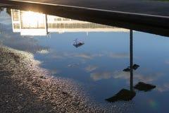 阳光从一个现代大厦反射 免版税图库摄影