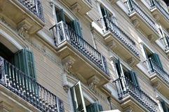 阳台家庭西班牙语 库存照片