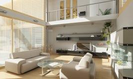 阳台居住的现代空间 免版税库存照片