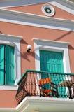 阳台柔和的淡色彩 库存图片
