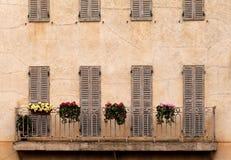 阳台法国农村 库存照片