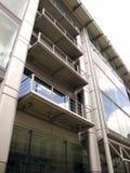 阳台现代办公室 免版税库存图片