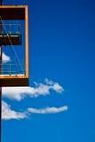阳台现代木 免版税库存照片