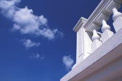 阳台白色 库存照片